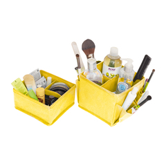 набор из 2-х органайзеров для косметики, minimalistic lemon