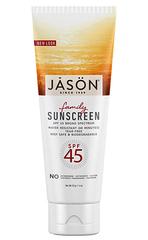 Натуральное солнцезащитное средство для всей семьи с SPF 45, Jason