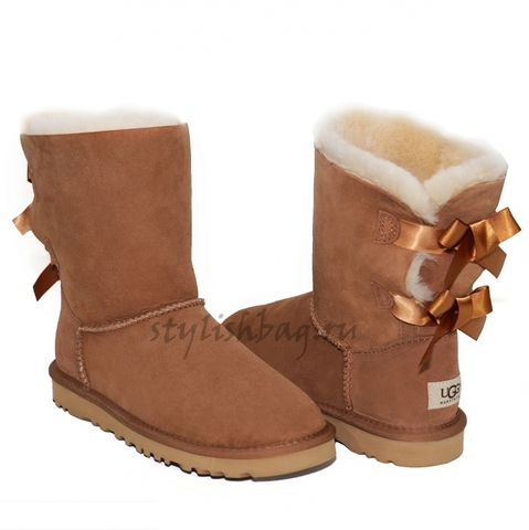 Женские угги UGG Bailey Bow Chestnut