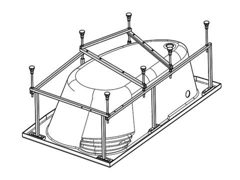 Монтажный комплект к ванне акриловой асимметричной