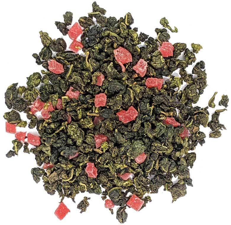 """Ароматизированный фруктовый, ягодный чай """"Клубничный рай"""" чай зеленый улун ароматизированный  с добавками, 100 гр Ztmlianichniy_ulun.jpg"""