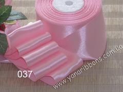 Лента атласная однотонная розовая - 037