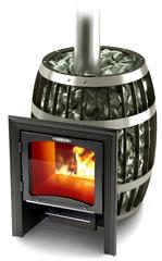 Банная печь Саяны Carbon Витра