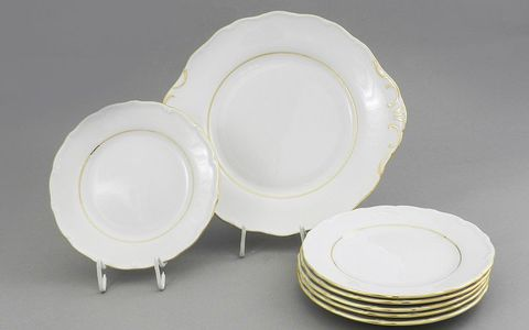 Сервиз для торта 7 предметов с тарелками десертными 19 см Верона Leander