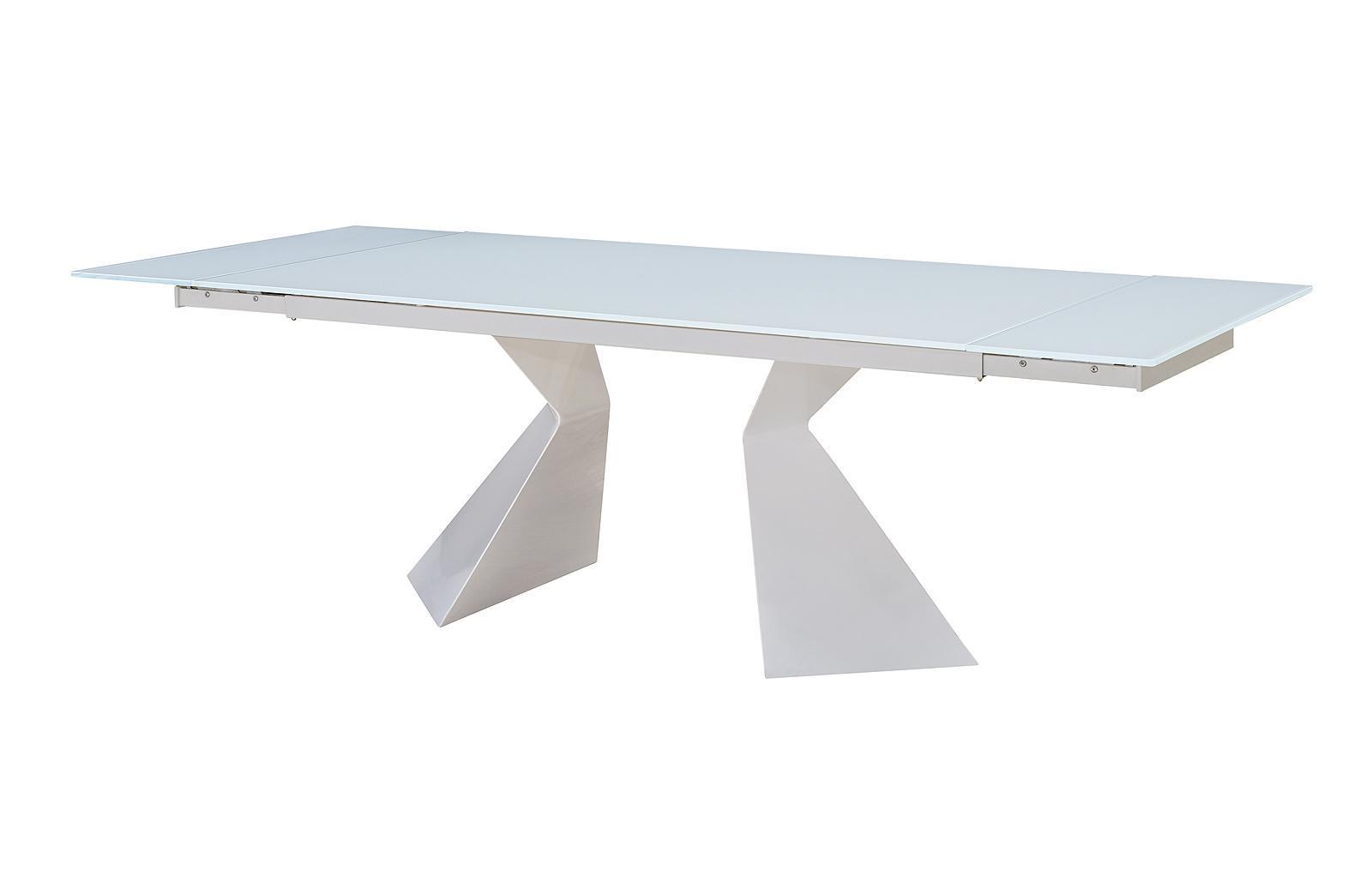 Стол ESF CT992 белый в разложенном состоянии