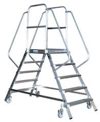 Лестница - платформа двухсторонняя с 5-ю алюм. ступеньками (нов.)