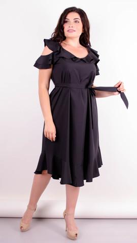 Веста. Красива сукня плюс сайз. Чорний.