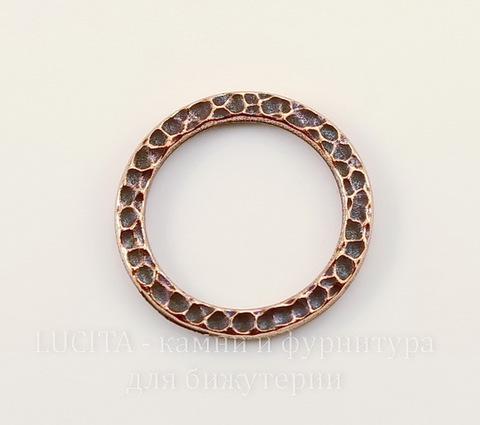 """Коннектор - кольцо TierraCast """"Hammertone"""" 19 мм (цвет-античная медь)"""