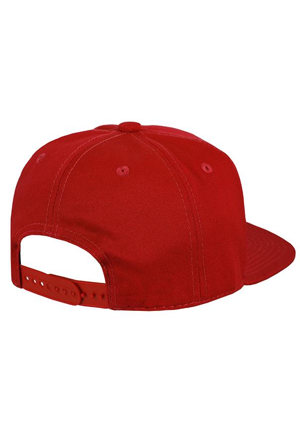 Бейсболка красная фото 2
