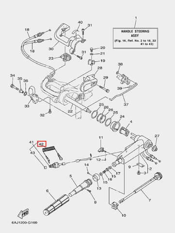 Трос страховочный для лодочного мотора F20 Sea-PRO (16-42)
