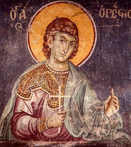 Икона святой Орест на дереве на левкасе мастерская Иконный Дом