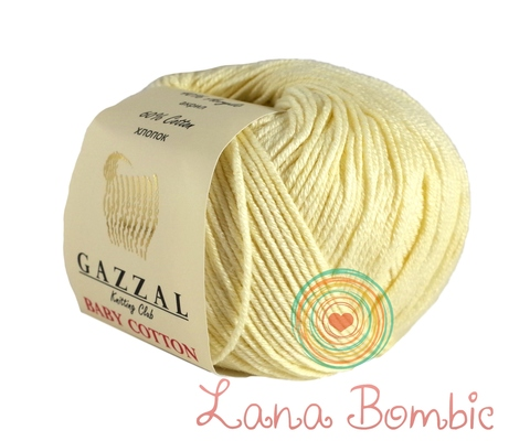 Пряжа Gazzal Baby Cotton 3437 экрю