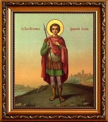 Димитрий Солунский Святой великомученик. Икона на холсте.