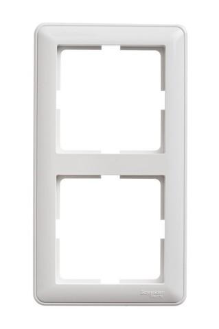Рамка на 2 поста. Цвет Белый. Schneider Electric Wessen 59. KD-2-18