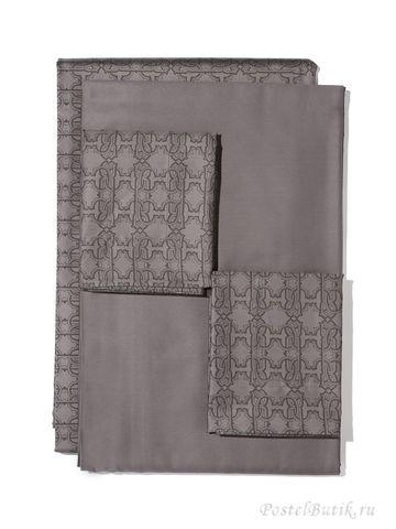 Постельное белье семейное Roberto Cavalli Basic серое