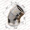 Отвод-сэндвич 135° d150x210мм (439/0,8 мм+оцинк) Ferrum