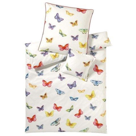 Постельное белье 2 спальное Elegante Butterfly белое