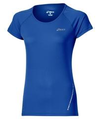 Женская беговая футболка Asics SS Top (110422 8091) синяя фото
