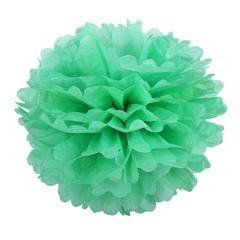 Помпон из бумаги 30 см, светло-зеленый