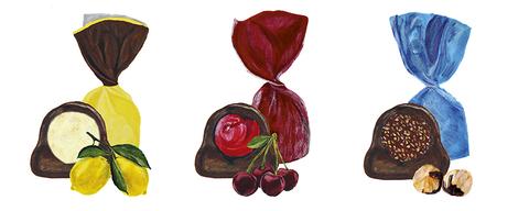 Шоколадные конфеты-пралине в ассортименте: «Преферити», «Ноччиолино», «Лимончелло» в жестяной жёлтой коробке, 150 г