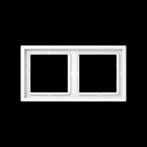 Рамка на 2 поста. Цвет Белый. JUNG LS ZERO. LSZ982BFWW