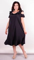 Веста. Красивое платье плюс сайз. Черный.