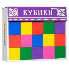 Деревянные кубики Цветные 20 штук
