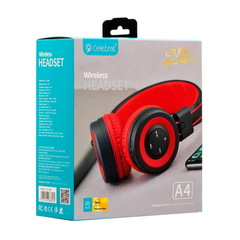 Наушники Bluetooth Celebrat A4, (BT5.0, 8-10H) red