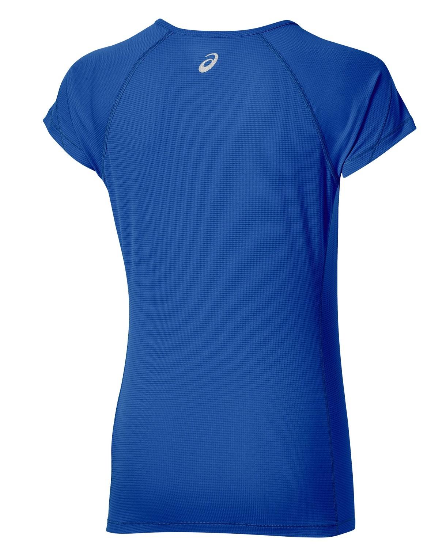 Женская футболка для бега Asics SS Top (110422 8091) синяя фото