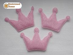 Мягкие декор корона розовая