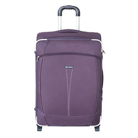 Чемодан 09-10 на 2 колёсах пурпурный полиэстер