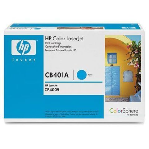 Картридж HP CB401A голубой тонер-картридж для HP Color LaserJet CP4005, CP4005n, CP4005dn (голубой 7500 стр.)