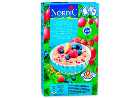 Овсяная каша Nordic с яблоками, черникой и малиной, 210г