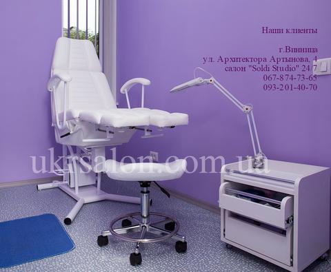 Педикюрно-косметологическое   кресло КП-3  на гидравлике   c  подставкой