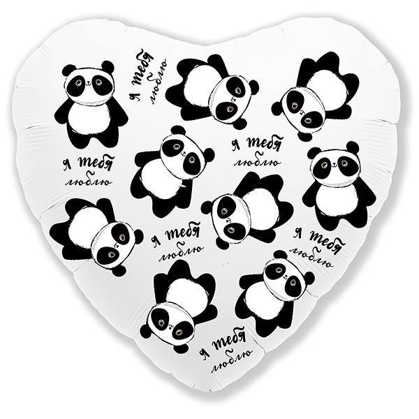 Сердца, круги, звезды Шарик из фольги Сердце Панда Я тебя люблю 9751336.jpg