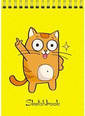 Скетчбук Веселый котик