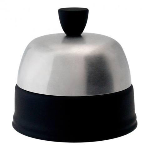 Фарфоровая сахарница с крышкой, черная, артикул 150475