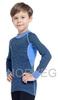 Терморубашка из шерсти мериноса Norveg Climate Control Blue детская
