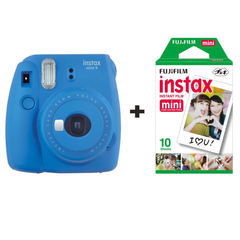 Fotoaparat Fujifilm instax Mini 9 Camera with 10 Shots - Cobalt Blue