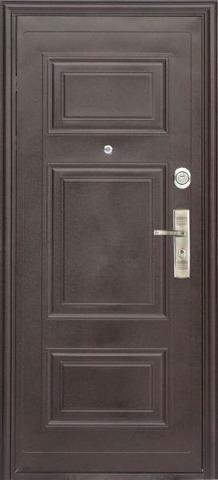 Дверь входная S-3 двустворчатая (1250*2050) стальная, медь, 2 замка, фабрика Арсенал
