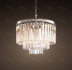 Люстра 1920S ODEON CLEAR GLASS FRINGE 3-TIER Restoration Hardware