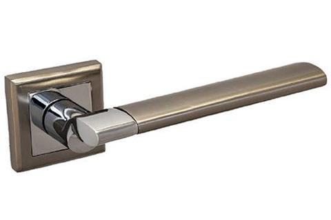 Фурнитура - Ручка Дверная  Palidore 219, цвет белый никель/хром  (гарантия - 12 месяцев)