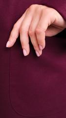 Сарена. Женское пальто-кардиган больших размеров. Бордо.