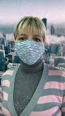 Многоразовая маска для лица (полосатая)