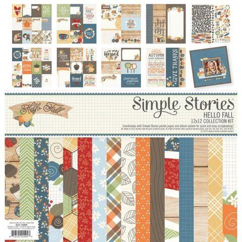 Кит-набор бумаги и украшений 30*30см. Simple Stories - Hello Fall