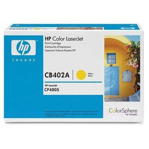 Картридж HP CB402A желтый тонер-картридж для HP Color LaserJet CP4005, CP4005n, CP4005dn (желтый, 7500 стр.)