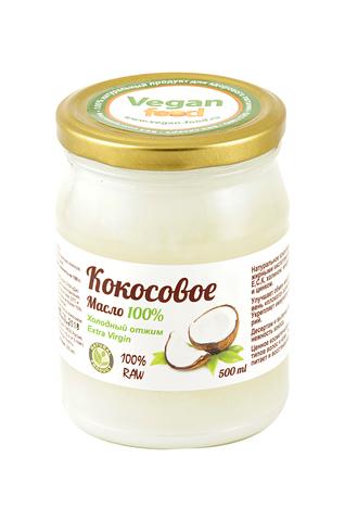 Масло кокосовое Extra virgin Vegan Food, 500 мл