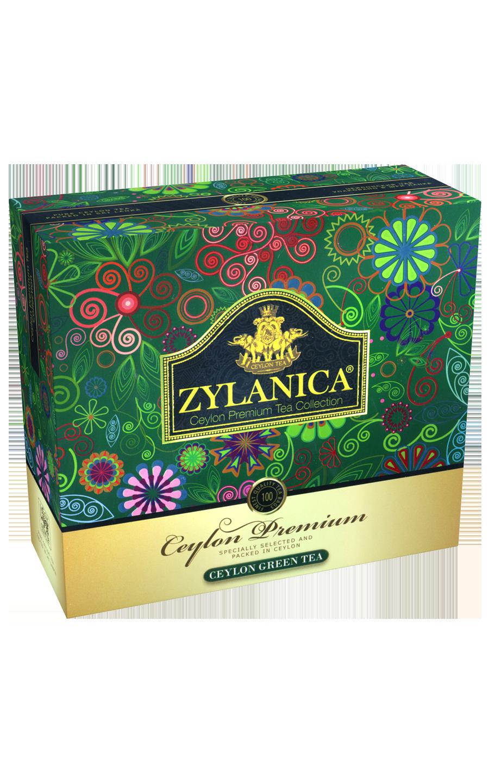 ЧАЙ ZYLANICA зелёный в пакетиках Ceylon Premium Collection , 100 шт
