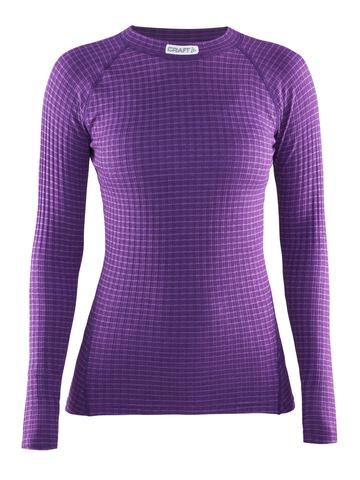 Термобелье рубашка Craft Warm Wool женская фиолетовая