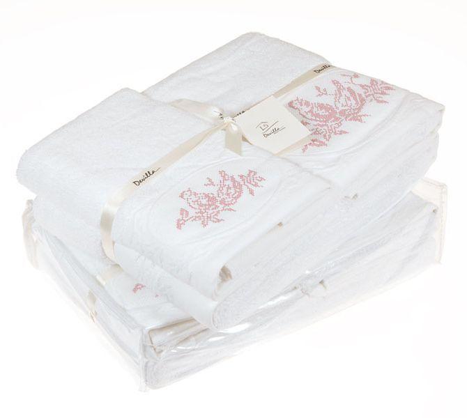 Полотенце 30x50 Devilla Птички белое